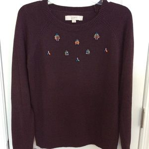 LOFT Jewel Embellished Sweater
